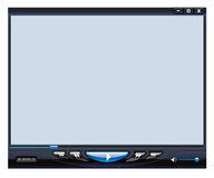 Multimedia-Spielerschnittstelle Stockfoto