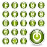 Multimedia-Spielertasten. Stockfotografie