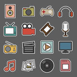 Multimedia sticker icon Stock Images