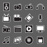 Multimedia sticker icon Stock Photo