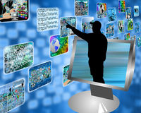 Multimedia strumień Obraz Stock