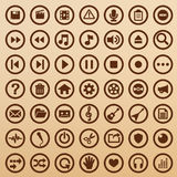 Multimedia symbols Royalty Free Stock Photography
