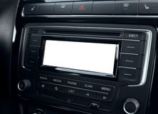 Multimedia system of a modern car. Digital display Royalty Free Stock Photos
