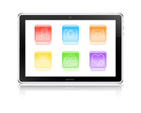 Multimedia tablet computer Stock Images