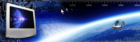 Multimedia Tech Header Royalty Free Stock Photo