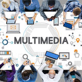 Multimedia Technology Content Creative Digital Concept.  Royalty Free Stock Images