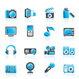 Multimedia and technology icons Stock Image