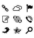 Multimedia and technology icons set Stock Image