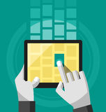 Multimedia-Teilen lizenzfreie abbildung