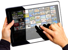 Multimedia touchpad Royalty Free Stock Photography