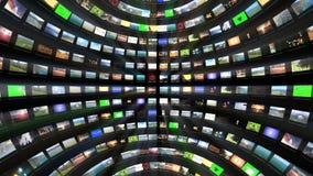 Multimedia TV sphere rotating, seamless loop