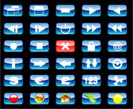 Multimedia and Various Icon set Stock Photo