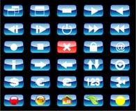 Multimedia and Various Icon set Stock Photo