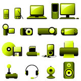 Multimedia Vector Icons Royalty Free Stock Photo