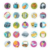 Multimedia Vector Icons Royalty Free Stock Photography