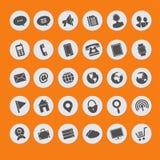 Multimedia vector Satz Stockfotos