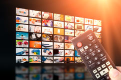 Multimedia video wall television broadcast Stock Photography