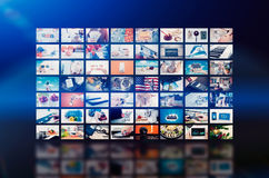Multimedia video wall television broadcast Stock Image