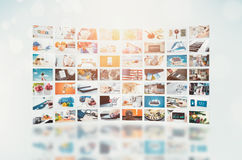 Multimedia video wall television broadcast Royalty Free Stock Image