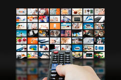 Multimedia video wall television broadcast Royalty Free Stock Photography