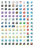 Multimedia and web icons. Illustrated multimedia and web icons isolated against a white background Stock Photography