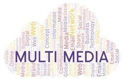 Multimedia woordwolk royalty-vrije illustratie