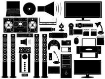 Multimediaapparater Royaltyfri Illustrationer