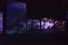 Multimediaausstellung Lizenzfreie Stockfotografie