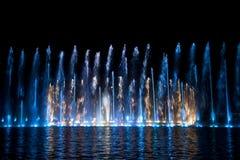Multimediabrunnen im Wroclaw Lizenzfreies Stockfoto