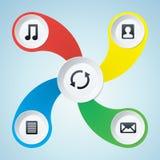 Multimediadesignbeståndsdelar Arkivfoton
