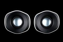 Multimediahögtalare som isoleras på svart bakgrund Royaltyfria Bilder