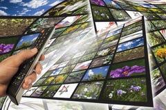 Multimediahintergrund Lizenzfreies Stockbild