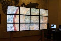 Multimedialna technologia, wideo ścienna prezentacja Fotografia Stock