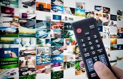 Multimedialna wideo ściany telewizi transmisja obraz stock