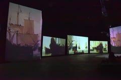 Multimedialna wystawa Obrazy Stock