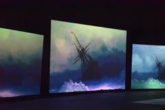 Multimedialna wystawa Zdjęcie Royalty Free