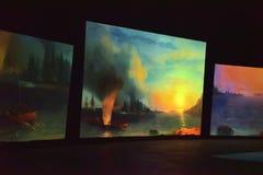 Multimedialna wystawa Fotografia Stock
