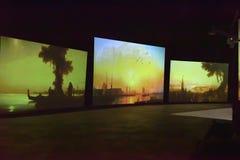 Multimedialna wystawa Obraz Stock