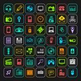 Multimedialne ikony ustawiać wektor ilustracji