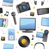 Multimedialnych ikon Bezszwowy wzór Obrazy Royalty Free