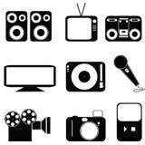 multimedialnych ikony Obrazy Royalty Free
