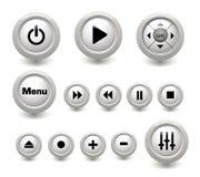 Multimedian buttons samlingen Royaltyfri Foto