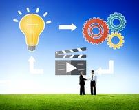 Multimedias Concep de los pensamientos de la inspiración de la creatividad de las ideas del planeamiento imagen de archivo libre de regalías