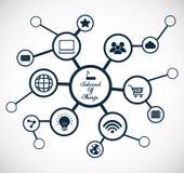 Multimediasymbolsuppsättning Internet av sakerdesignen som stylized swirlvektorn för bakgrund det dekorativa diagrammet vågr royaltyfri illustrationer