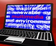 Multimedior Word på bärbar dator vektor illustrationer