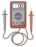 Multimeter. Illustration of a multimeter, also known as a volt/ohm meter used to measure to measure voltage, current and resistance Royalty Free Stock Photography