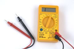 Multimeter. Digital Multimeter Royalty Free Stock Photo