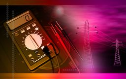 Multimeter and antenna Stock Photos