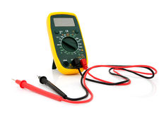 Multimeter with cables Royalty Free Stock Photo