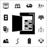 Multimeter ikona Set Energetyczne ikony Premii ilości graficznego projekta ikony Znaki i symbol inkasowe ikony dla stron internet Obraz Royalty Free